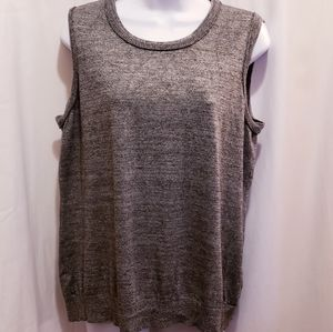 Calvin Klein Grey Sweater Tank Top - Size XL